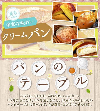 パンのテーブル 多彩な味わいクリームパン